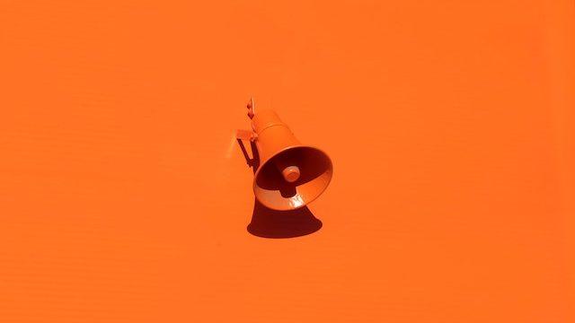 megaphone orange color