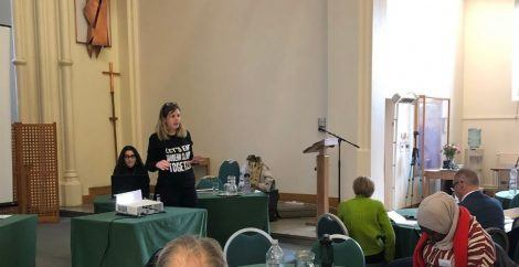 joanna ewart-james, miriam karmali at sheffield conference