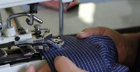 sewing machine worker