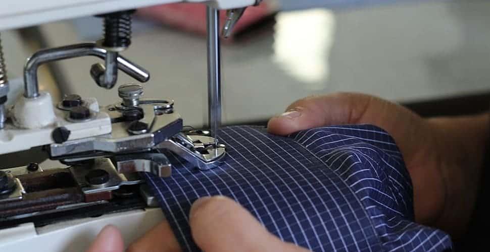 sewing machine worker