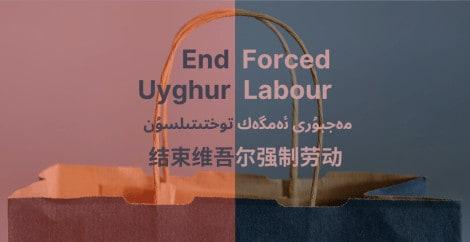 Fine del lavoro forzato uigura multilingue
