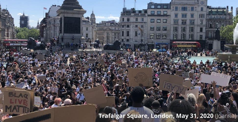 George Floyd Trafalgar Square protest
