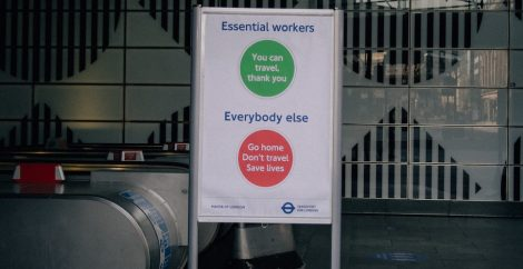 London underground essential workers sign
