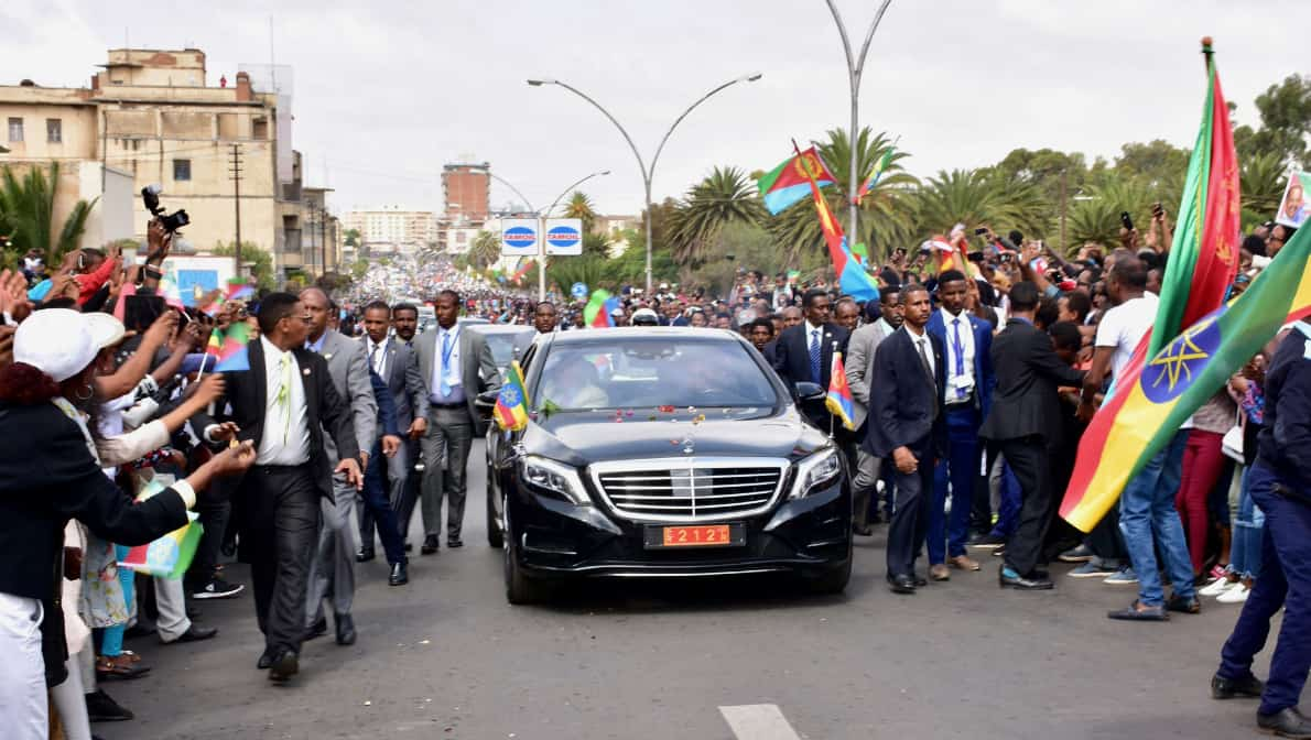 Ethiopian PM Abiy in Asmara