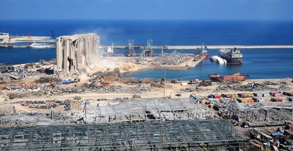 Beirut blast site