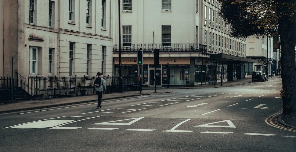Empty London street