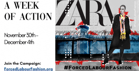 Week of Action graphic Zara forced labour fashion