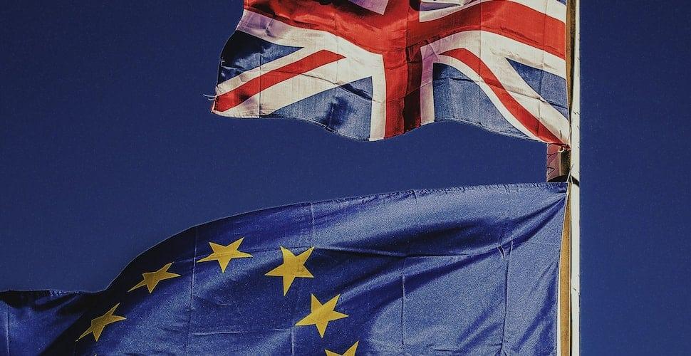 UK EU flags Brexit