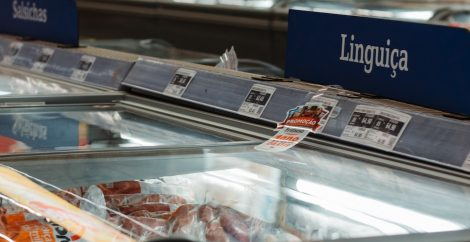 Supermarket meat fridge