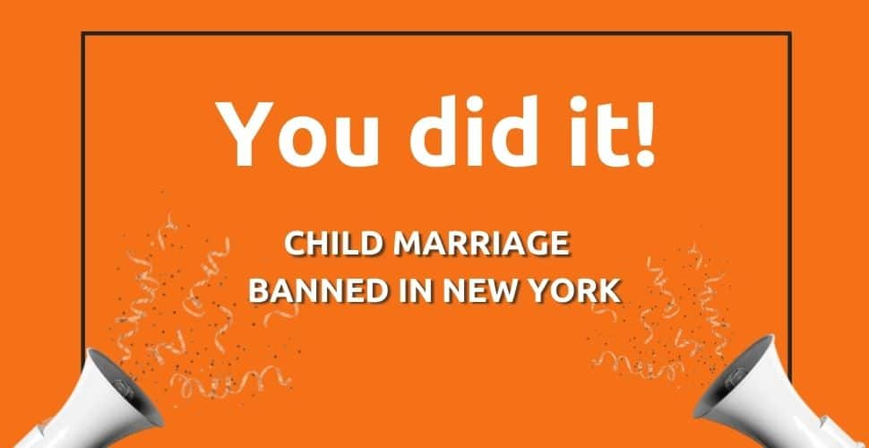 Success! Freedom United community pushes for New York to ban child marriage