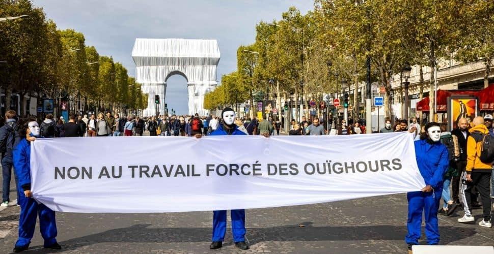 Uyghur protest Paris